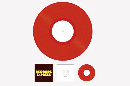 レコードプレス 10inchパック カラー
