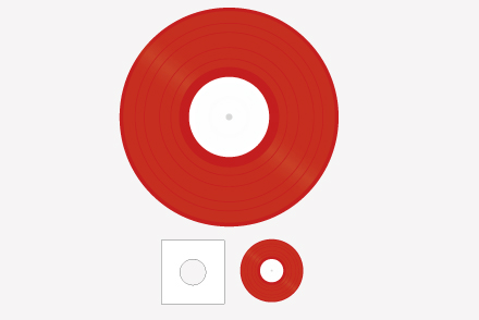 12inch レコード(カラー)