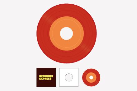 7inch レコードパック(カラー)