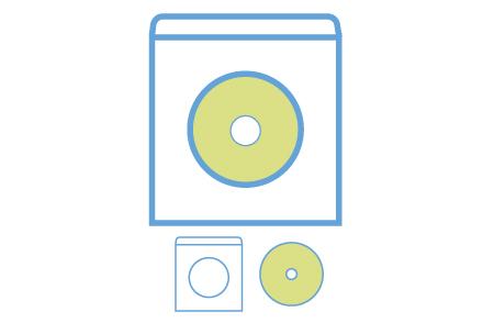 窓付き紙ケース DVD9プレス